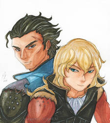 Olberic and Erhardt by yueyuetan