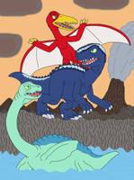 Three Dinosaur Modes of Magmatron by MCsaurus
