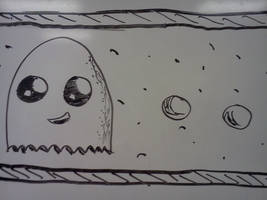 Pac-man Ghost and Pellets. by VioletLinked