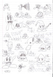 Kirby doodles by 1rockbandguy