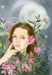 Summer night fairy by Sweetrosali