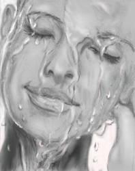 Wet face by Sweetrosali
