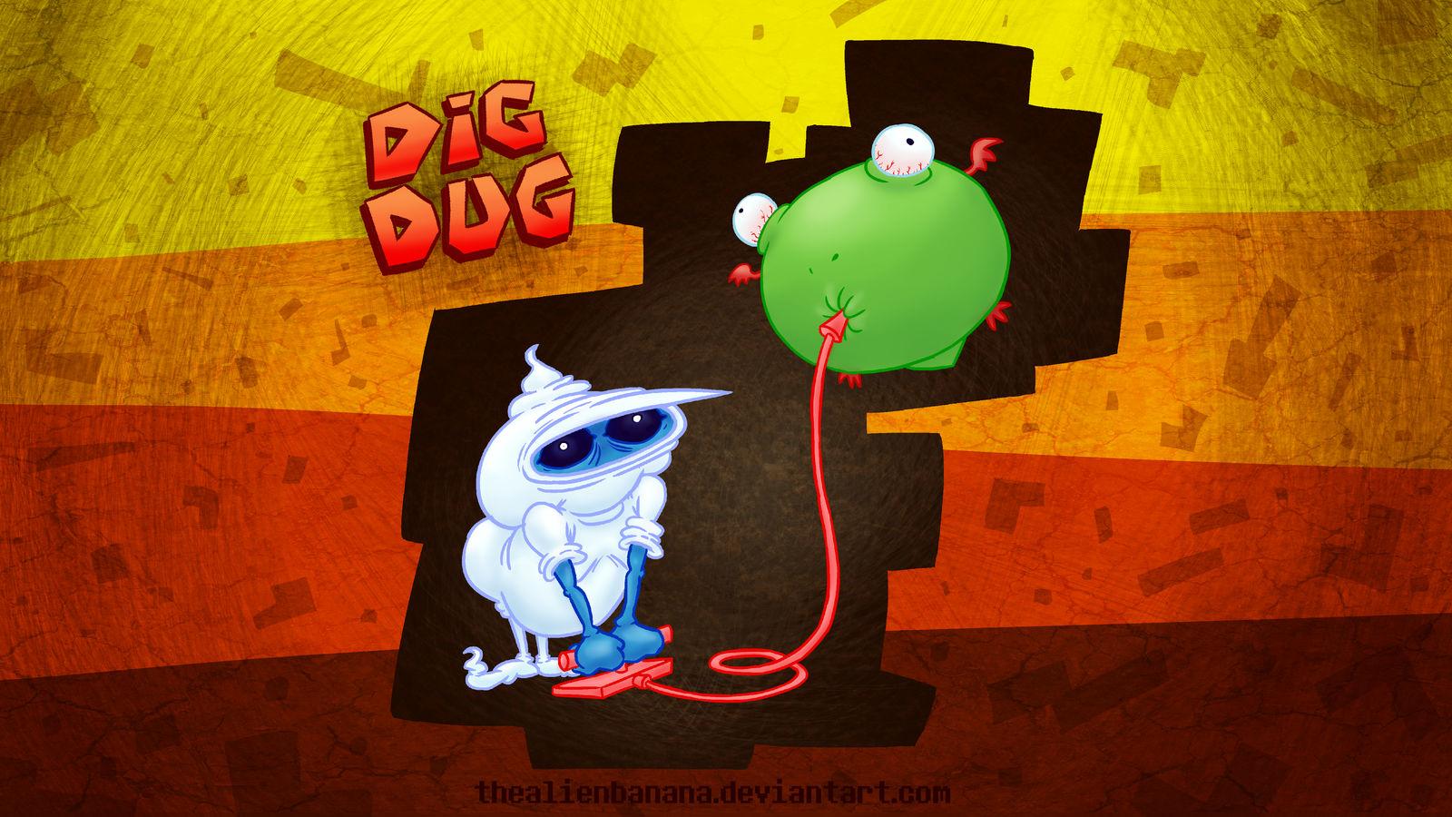 Dig Dug By Thealienbanana On Deviantart