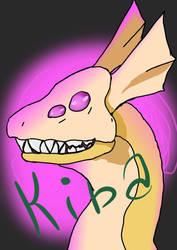 Kiba headshot by lupine-feline