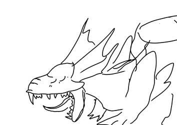 Yawning Mirror doodle by lupine-feline