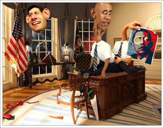 Oval Office freakshow by Allebandro