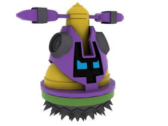 'Clunk' - Enemy from Mega Man by ragadorn