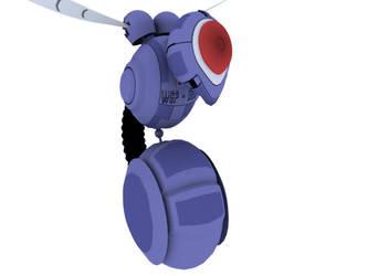 3D Wasp Enemy - Mega Man by ragadorn