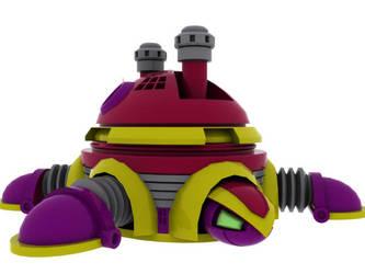Turtle Mega Man Enemy in 3D by ragadorn