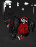 Little Red, Big Dog by Le-RenardRoux
