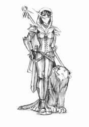 WoW - Night Elf Hunter by Veronika-Smirnova
