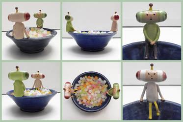 Katamari candy dish by TK421LovesYou