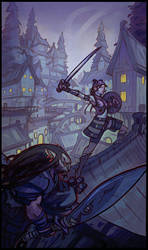 Rooftop Fight by tim-mcburnie