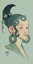 Teal Headdress by tim-mcburnie