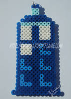 Fuse Beads Tardis by Purplefire40