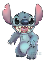 Stitch not bad, Stitch fluffy! by Alantka
