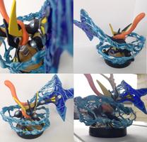 Greninja Custom Amiibo by Shadinski