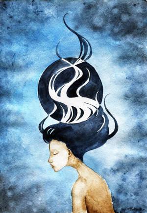 Blue moon by Debrarium