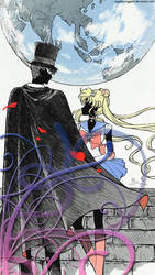 Sailor Moon Crystal: Tuxedo Mask and Sailor Moon by soapboxinggeek