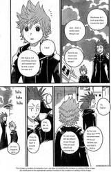 Roxas and Axel's pleasant conversation. by blackwargreymonfan