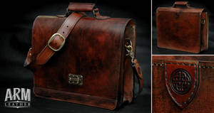Mahogany Brifecase/Messenger Bag by Blackthornleather