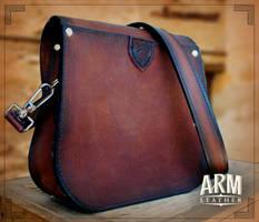 Shoulder Bag 1 by Blackthornleather