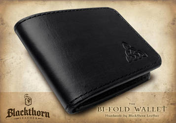 Bi-fold-Black-closed by Blackthornleather