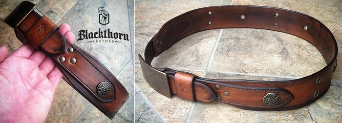 Kilt Belt 1 by Blackthornleather