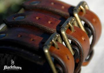 Mermaid Bracer Buckles 2 by Blackthornleather