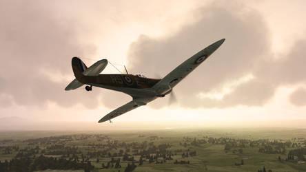 Spitfire Sunset by alotef