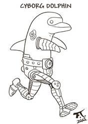Cyborg Dolphin by PsychoCaptain