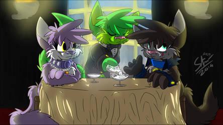 Commission - The cat's waiter by Stu-Jojo