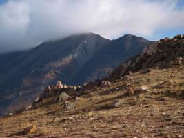 mountain hilltop rocks 5 by fotophi