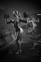 Nude fitness instructor by lobur