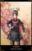 Chinese painting - minorities by hiliuyun