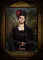Oriental Mona Lisa by hiliuyun