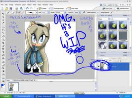 Omg, it's a WIP desktop :O by ChocohedgehogClub