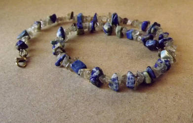 Psyche Lapis Lazuli andSmoky QuartzBracelet/Choker by FaithlisCreations