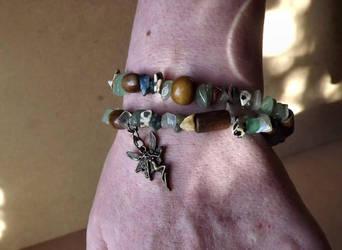 Forest Faerie Wrap Bracelet by FaithlisCreations