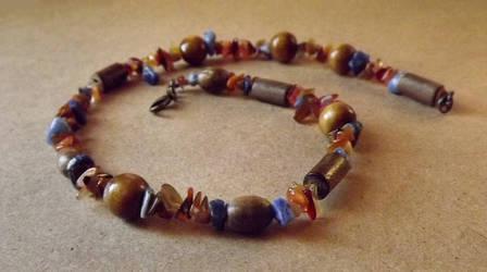 Pheonix Sodalite Carnelian and Wood Wrap Bracelet by FaithlisCreations