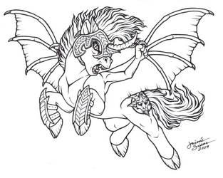 Thunder Pony by Emryswolf