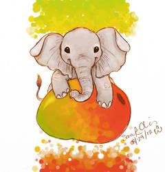 Mango Elephant by Kumu18