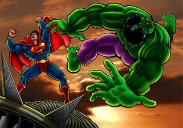 Superman vs Hulk: the Final Verdict color by PietrOtelloRomano
