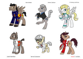Formula 1, Top Gear ponified by averagedraw