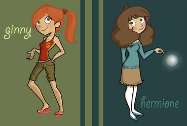 Potter Girls -dp style by BertieBottBeanie