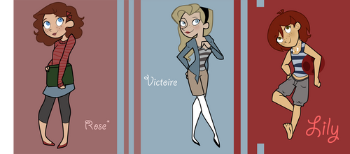 Rose. Victoire. Lily. -dpstyle by BertieBottBeanie