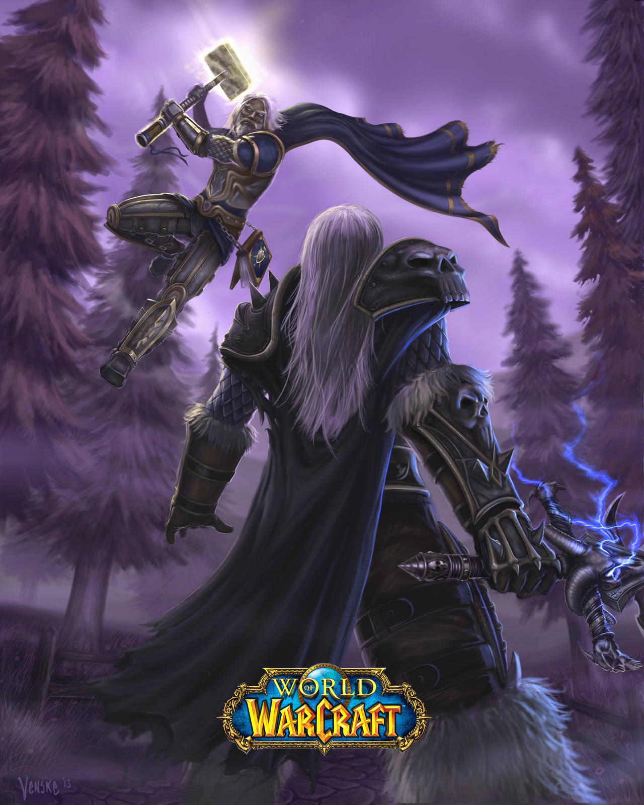 Arthas and Uther by VenskeArts