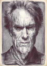 Clint Eastwood by Rafik Emil H by rafikemil