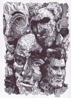 Polygonal Faces ( Ballpoint Art ) by Rafik Emil H by rafikemil