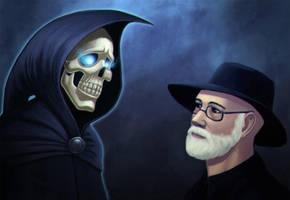 Terry Pratchett by 1nkor